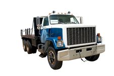 Free Flat Bed Truck Fnt Angle Iso Royalty Free Stock Photography - 2943257