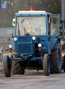 Free Blue Tractor Stock Image - 2944541