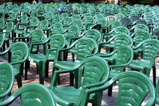 Free Row Of Plastic Chairs Stock Image - 2944561