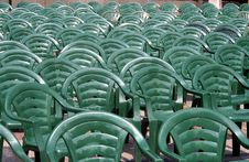 Free Row Of Plastic Chairs Royalty Free Stock Photo - 2944565