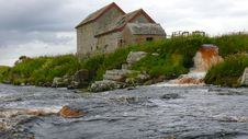 Free Old Mill Race In Spate Stock Photography - 2945602