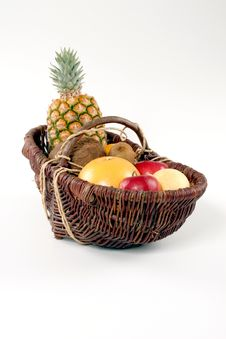 Free Basket Of Tropical Fruit Stock Images - 2945674
