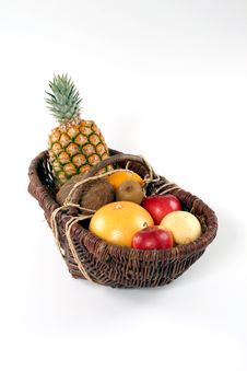 Free Basket Of Tropical Fruit Stock Images - 2945684