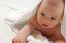 Free Baby After Bath 11 Royalty Free Stock Photo - 2945885