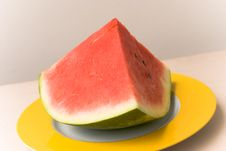 Free Watermelon  On The Plate,close Stock Images - 2946264