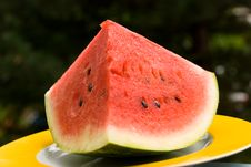 Free Watermelon  On The Plate,close Stock Photo - 2946270