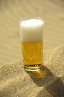Beer In Desert Royalty Free Stock Photos