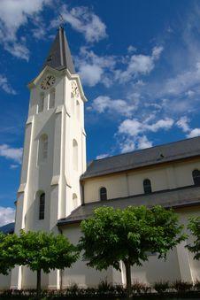 Church Clock Tower Stock Photography