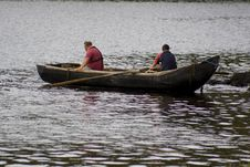 Free Irish Men Fishing In Currach Royalty Free Stock Photo - 2946805