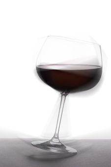 Free Tottering Glass Of Red Wine Royalty Free Stock Photos - 2946978
