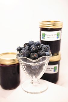 Free Homemade Blueberry Preserves Royalty Free Stock Photo - 2947255