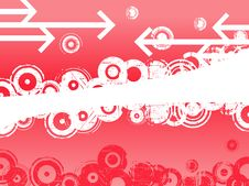 Pink Circles And Arrows Stock Photography