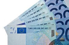 Twenty Euro Bills Royalty Free Stock Image