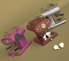 Free Three Espresso Machines Royalty Free Stock Photos - 2948128