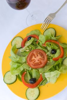 Free Fresh  Salad,croutons,lettu Stock Photos - 2948843