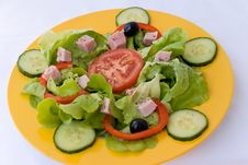 Free Fresh  Salad,croutons,lettu Royalty Free Stock Photos - 2948868