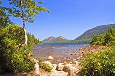 Free View Across Mountain Lake Stock Photo - 2949460