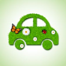 Free Car Icon From Grass Background Stock Image - 29405101