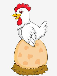 Free Hen With Giant Egg Royalty Free Stock Photo - 29405475