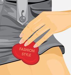 Free Fashion Style. Fragment Of Female Gray Shorts Stock Photography - 29406802