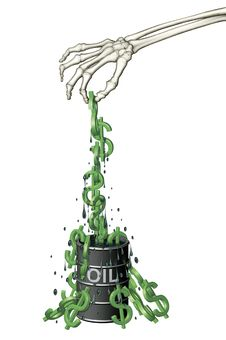 Free Oil Barrel Of Dollars Royalty Free Stock Images - 29409309