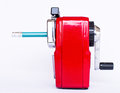 Free Red Pencil Sharpener Royalty Free Stock Images - 29411509