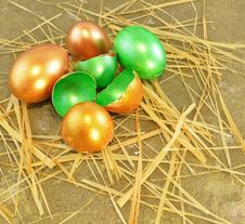 Free Easte Eggs On The Sand Stock Image - 29410251