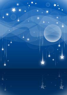 Free Night Falling Stars Stock Photo - 29411630