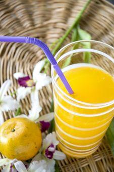 Free Fresh Juice Beside Orange Stock Image - 29412371