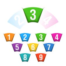 Numbers Set Stock Images