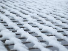 Free Background Grid Covered With Snow Stock Images - 29414904