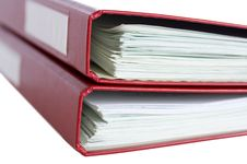 Free Stack Of Red Folders With Papers Stock Photo - 29417830