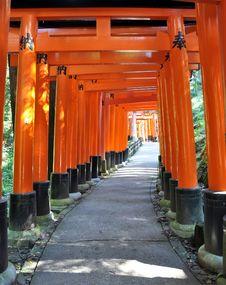 Free Thousand Torii Gates In Fushimi Inari Shrine, Kyoto, Japan Royalty Free Stock Photography - 29419157
