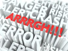 Free ARRRGH Background Conceptual Design. Stock Images - 29422634