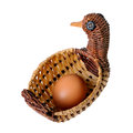Free Egg In A Decorative Basket Stock Photography - 29442962