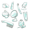 Free Set Of Cosmetic Accessories Royalty Free Stock Photo - 29443645