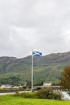 Free Scottish Flag On Skye Island Stock Images - 29443724