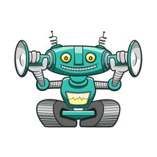 Free Green Robot Royalty Free Stock Photography - 29446887