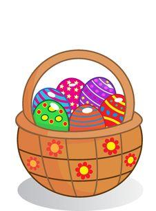 Free Easter Egg Basket Royalty Free Stock Photo - 29447535