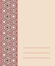 Free Fashion Pattern With Hexagons Stock Images - 29447614