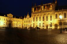 Brugges By Night Royalty Free Stock Image