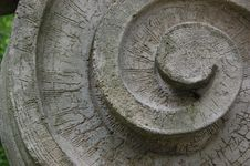 Stone Cut Spiral Element Of An Architectural Piece Royalty Free Stock Images