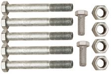 Galvanized Nuts And Bolts Stock Images