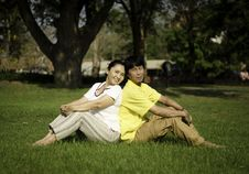 Free Happy Couple At Beautiful Park Stock Images - 29453964