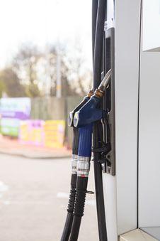 Gas Pump Nozzles Stock Photo
