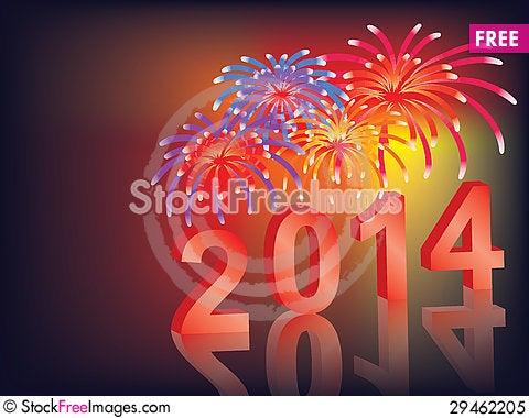 Free New Year 2014 Royalty Free Stock Photo - 29462205