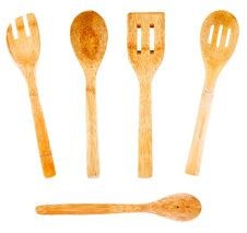Free Bamboo Kitchenware Royalty Free Stock Photography - 29465417