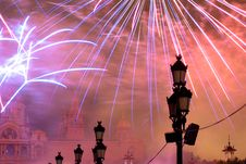 Fireworks In Barcelona Spain Royalty Free Stock Photos