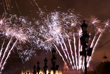 Fireworks In Barcelona Spain Royalty Free Stock Images