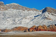 Free Winter In Red Rock Canyon Near Las Vegas. Nevada. Royalty Free Stock Photo - 29467475